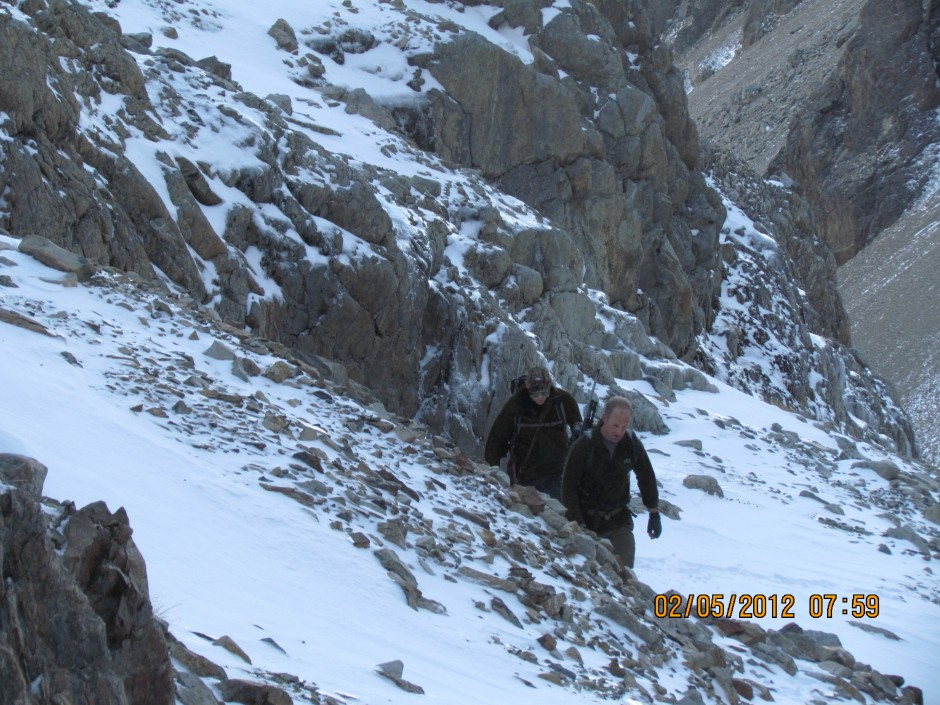 working up a lather in the pursuit of a Chamois Buck